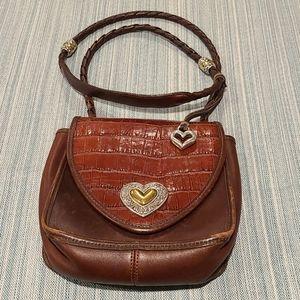 Authentic Brighton Crossbody Leather Heart Purse